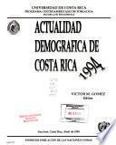 Actualidad demográfica de Costa Rica, 1994