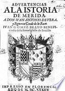 Advertencias a la istoria de Merida