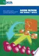 Álgebra matricial para economía y empresa