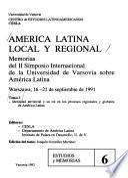 América Latina local y regional: Identidad territorial y su rol en los procesos regionales y globales en América Latina