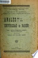 Anales de la Universidad de Nariño