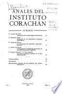 Anales del Instituto Corachán