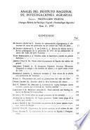 Anales del Instituto Nacional de Investigaciones Agrarias