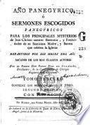 Año panegyrico, ó Sermones escogidos panegyricos, 3