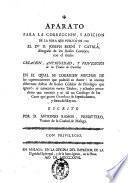 Aparato para la corrección, y adición de la obra que publicó en 1769 el D.or D. Joseph Berní y Catalá ... con el título Creación, antigüedad, y privilegios de los títulos de Castilla ...