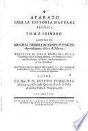Aparato para la historia natural española
