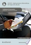 Aplicaciones informáticas de hojas de cálculo. ADGN0108 - Financiación de Empresas