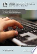 Aplicaciones informáticas de tratamiento de textos. ADGN0108 - Financiación de empresas