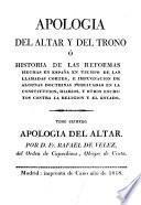 Apología del altar y del trono: Apología del altar