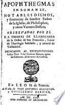Apophthegmas
