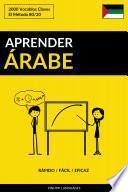 Aprender Árabe - Rápido / Fácil / Eficaz