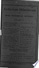 Archivium hibernicum