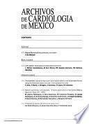 Archivos de cardiologia de Mexico