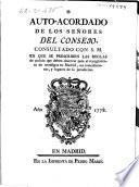 Auto-acordado de los señores del Consejo, consultado con S. M. en que se prescriben las reglas de policía que deben observar para el recogimiento de mendígos en Madrid, sus inmediaciones, y lugares de la jurisdicion