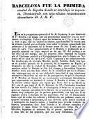 Barcelona fue la primera ciudad de España donde se introdujo la imprenta