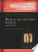 Biblia de Estudio Ryrie Ampliada-Rvr 1960