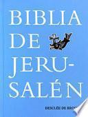 Biblia de Jerusalén 5a Edición: Con Funda Y Cierre de Cremallera