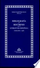 Bibliografía en resúmenes de la literatura española. [Artículos]. 1996