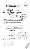 Biblioteca de religión: (1827. 318 p.)