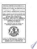 Bibliotheca Iberica et Latino-Americana