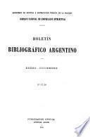 Boletín bibliográfico argentino