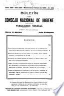 Boletin/Consejo Nacional de Higiene