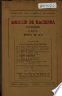 Boletín de hacienda