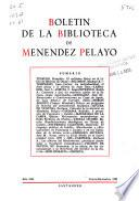 Boletín de la Biblioteca de Menéndez Pelayo