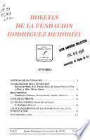 Boletín de la Fundación Rodríguez Demorizi