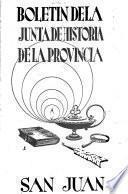 Boletín de la Junta de Historia de la Provincia