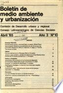 Boletín de medio ambiente y urbanización