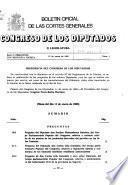 Boletín oficial de las Cortes Generales, Congreso de los Diputados