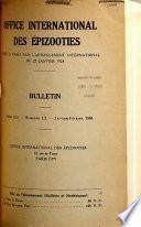 Bulletin - Office International Des Épizooties