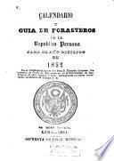 Calendario y guía de forasteros de la Republica Peruana para el año de ...