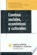 Cambios sociales, económicos y culturales