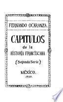 Capítulos de la historia franciscana