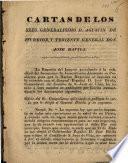 Cartas de los sres. Generalisimo D. Agustin de Iturbide y Teniente General Don José Davila
