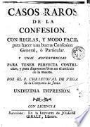 Casos raros de la confesion