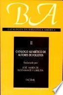 Catalogo Alfabetico de Autores de Folletos
