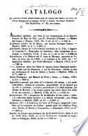 Catalogo de alguns livros hespanhoes que se achão de venda na loja de Viuva Bertrand e Filhos, etc
