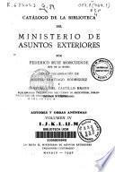 Catálogo de la Biblioteca del Ministerio de Asuntos Exteriores