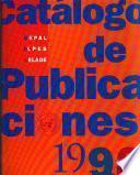 Catálogo de publicaciones de CEPAL, ILPES, CELADE