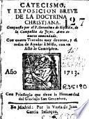 Catecismo y exposicion de la dotrina christiana