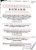 Ceremonial romano de la missa rezada