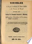 Circular en la que se anuncia el Santo Jubileo a la Diocesis de Teruel