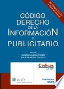 Código derecho de la información y publicitario