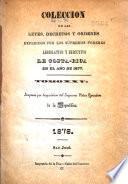 Colección de leyes, decretos, acuerdos y resoluciones