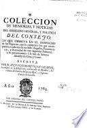 Coleccion de memorias y noticias del gobierno general y político del Consejo