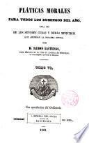 Colección de pláticas dominicales...