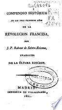 Compendio histórico de los tres primeros años de la Revolución Francesa